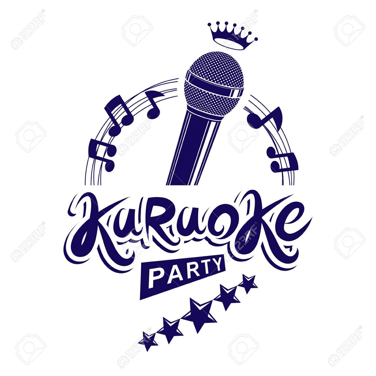 Karaoke Party Invitation Poster. Royalty Free Cliparts, Vectors ...