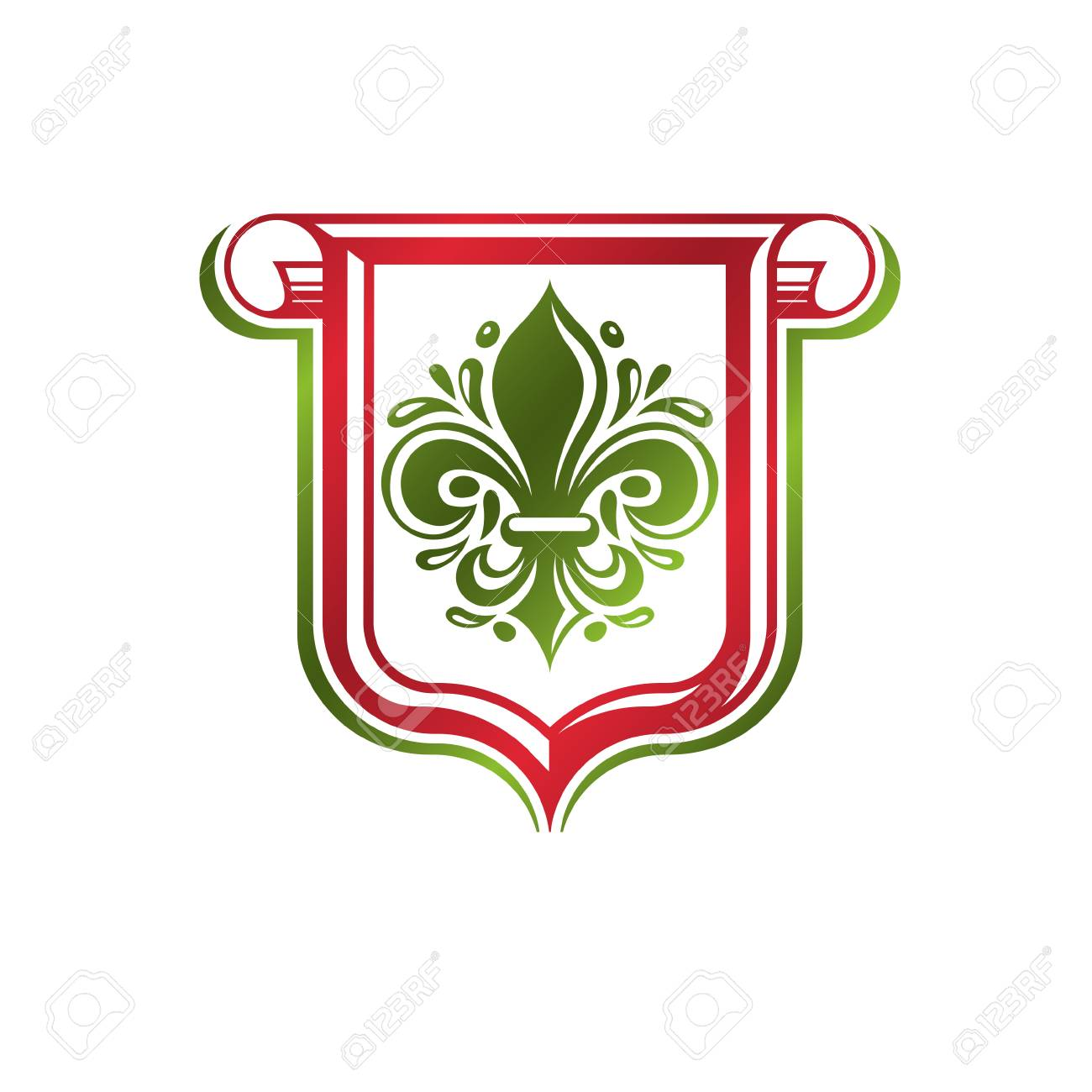 The heraldic lily is the favorite emblem of France 85