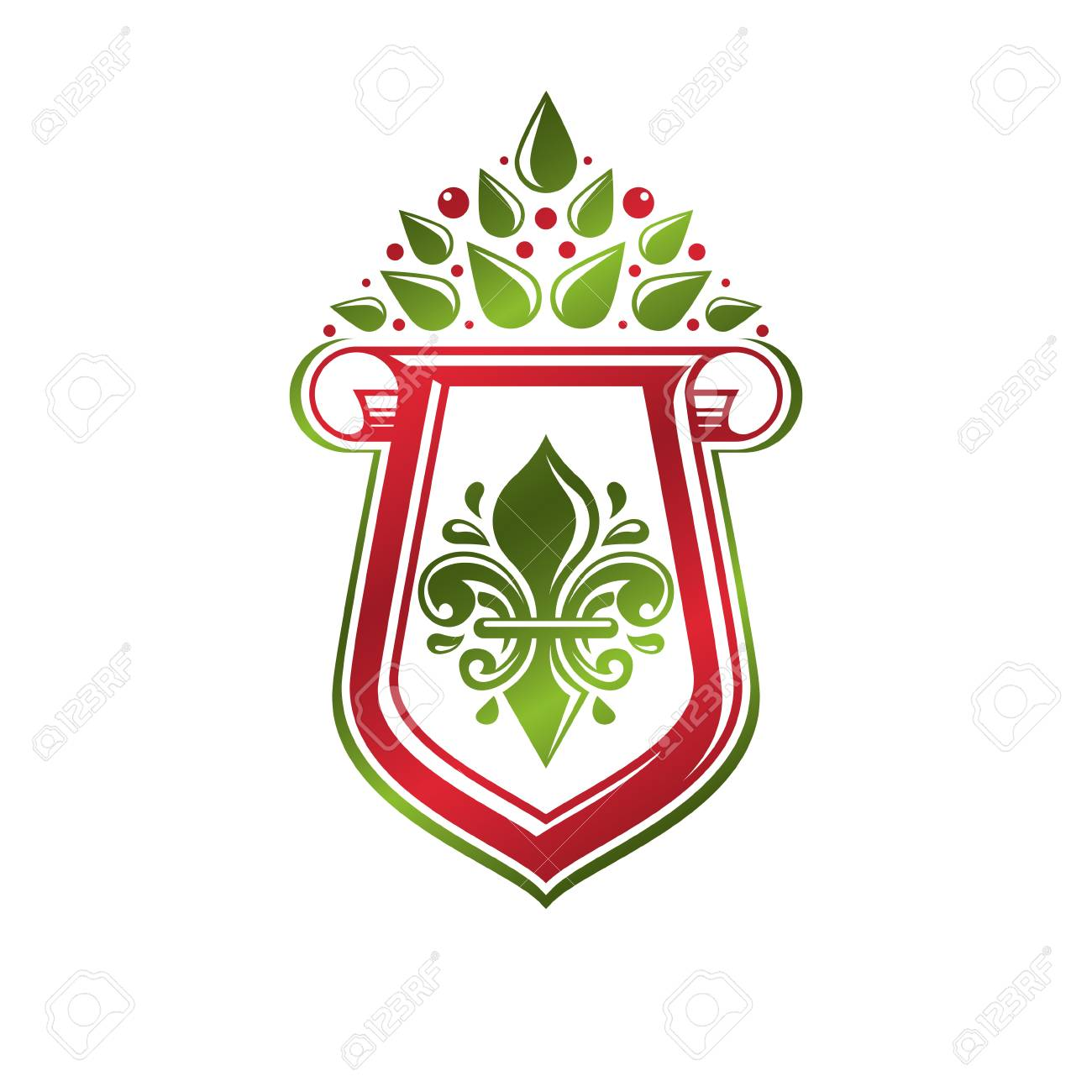 The heraldic lily is the favorite emblem of France 11