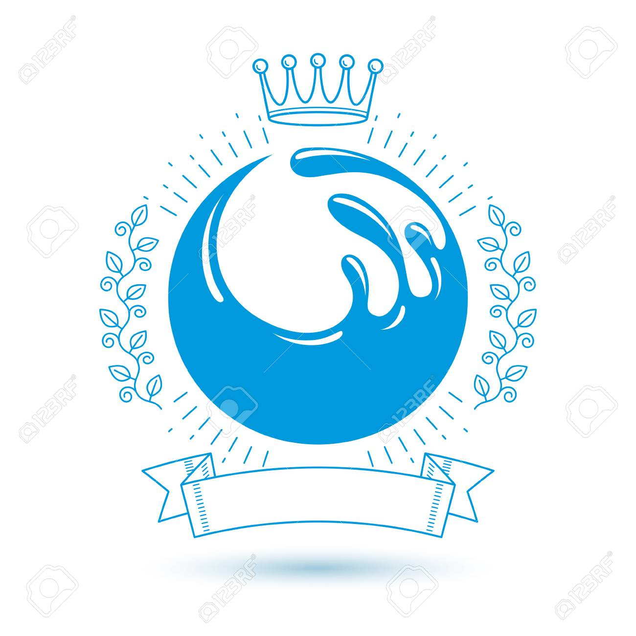 Ocean freshness theme vector symbol for use in spa and resort ocean freshness theme vector symbol for use in spa and resort organizations mineral water advertising biocorpaavc Gallery