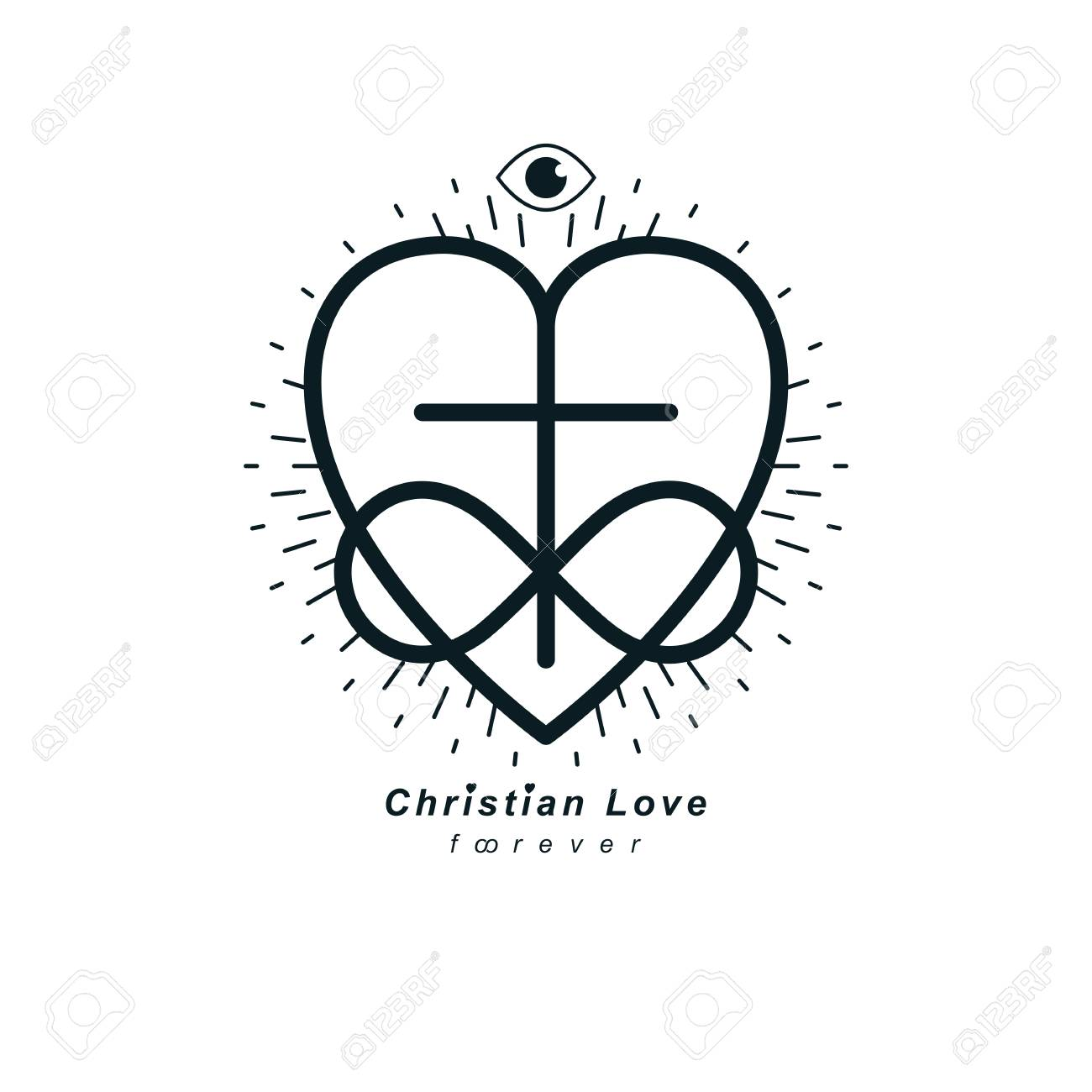 Everlasting Christian Love And True Belief In God Vector Creative