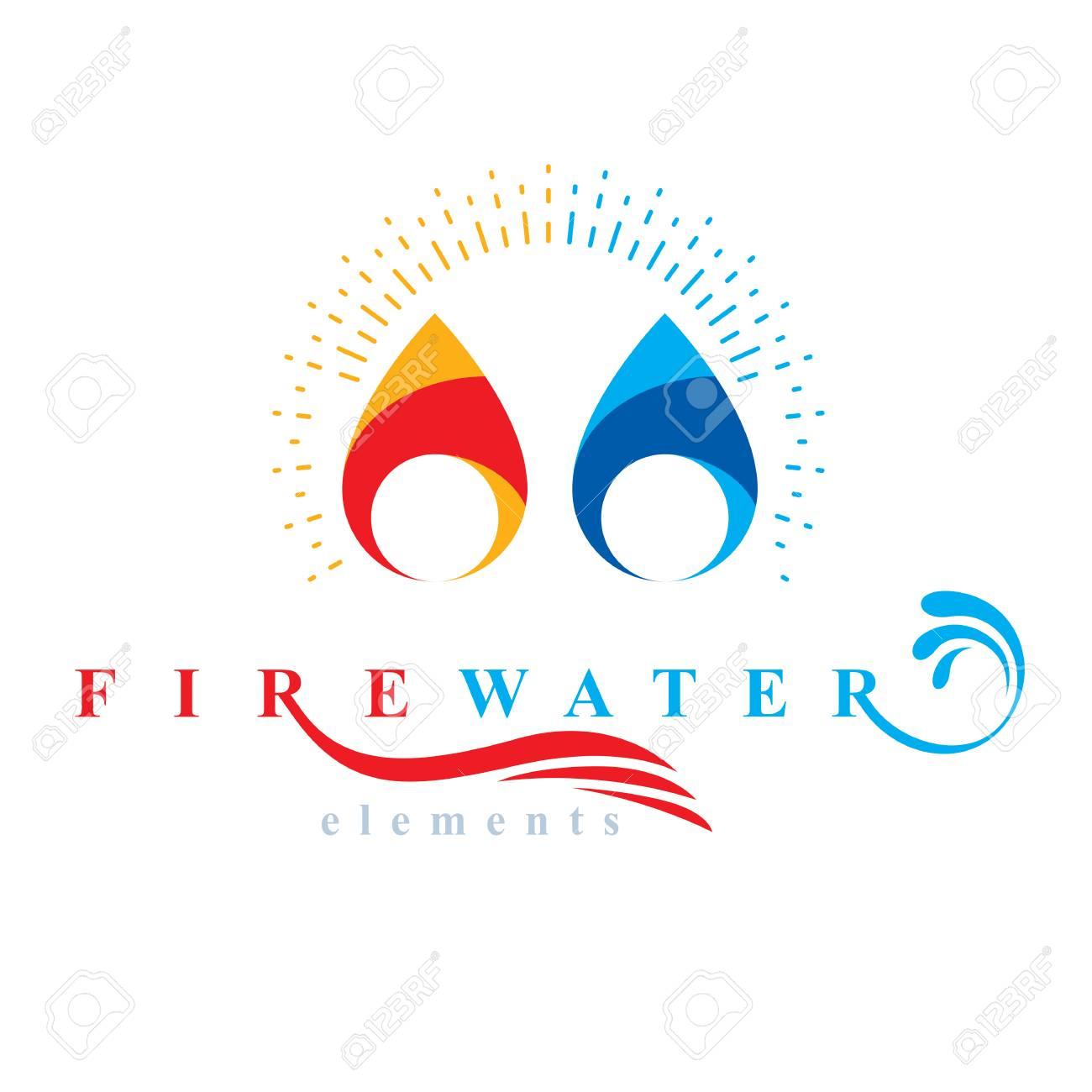 Nature Elements Balance Conceptual Emblem For Use As Marketing