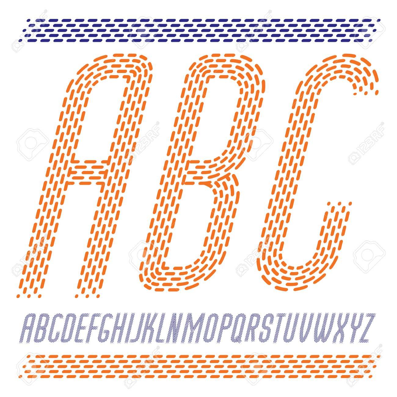 Abc Creation dedans vector capital condensed modern alphabet letters, abc set. rounded