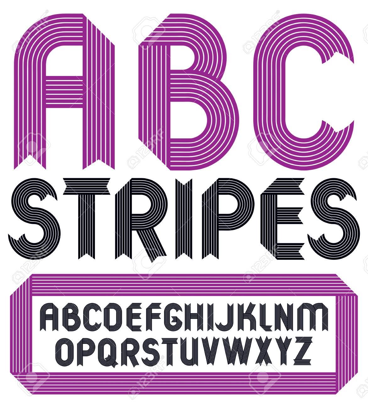 Abc Creation tout set of trendy vector capital alphabet letters, abc isolated