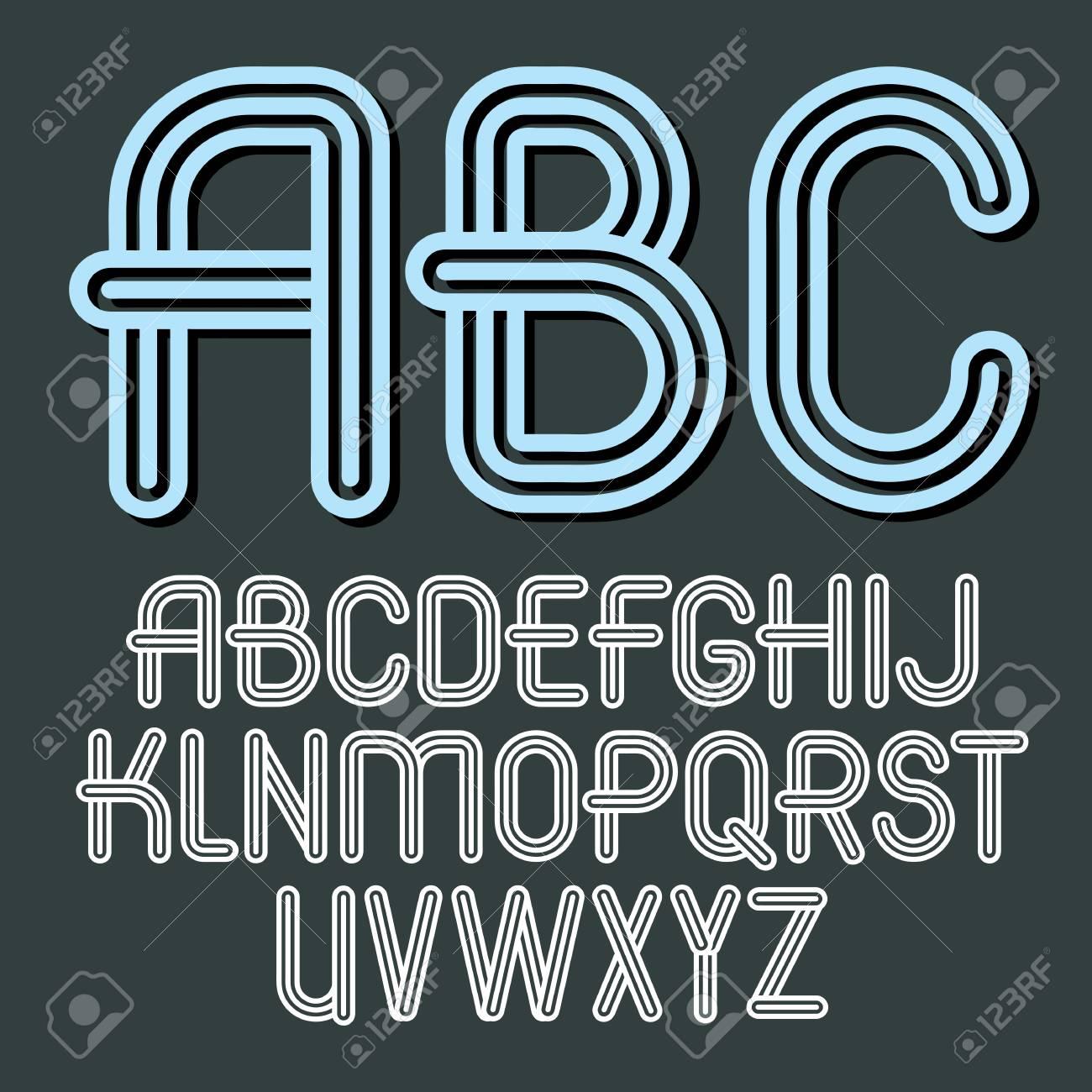 Abc Creation à set of trendy vector capital alphabet letters, abc isolated