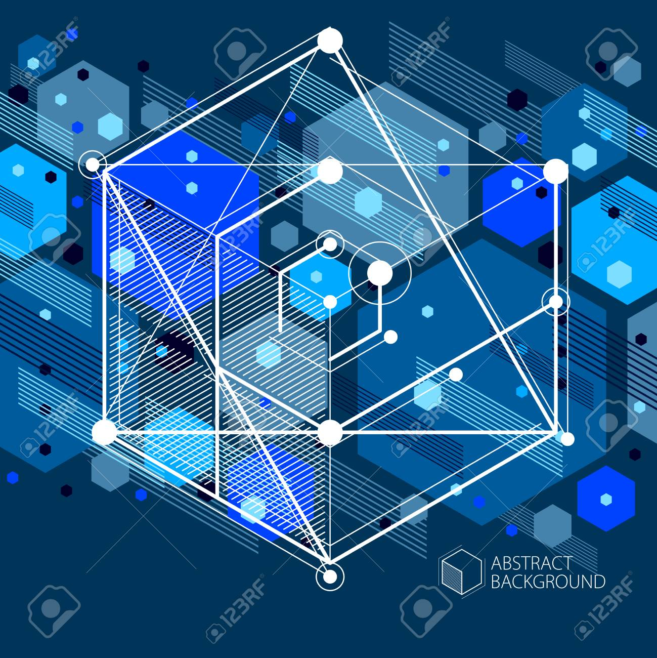 Engineering Technology Vector Dark Blue Wallpaper Made With 3d