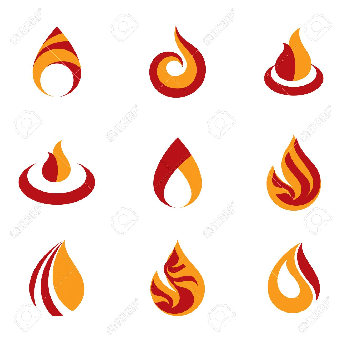 set of vector fire illustrations hot burning flame symbols best rh 123rf com vector fire truck vector firearms usa