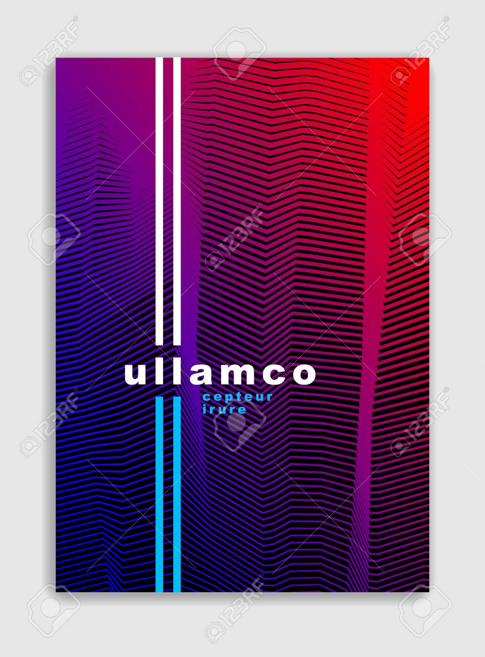 Line art vector minimalistic modern brochure design, cover template, geometric halftone gradient. For Banners, Placards, Posters, Flyers. Perfect and unlike, pattern texture. - 102402995