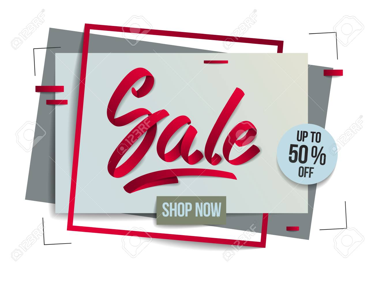 Sale Flyer Template With Lettering Poster Card Banner