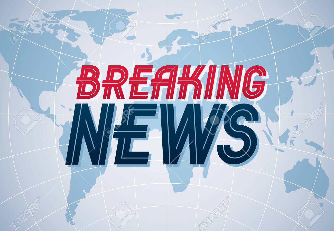 Breaking News vector background, world news TV or internet channel