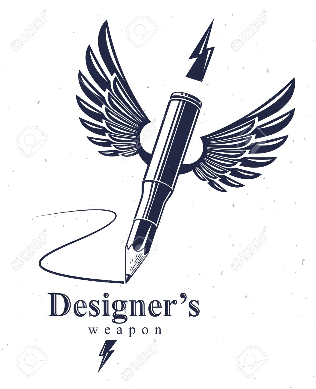 Idea is a weapon concept, weapon of a designer or artist allegory