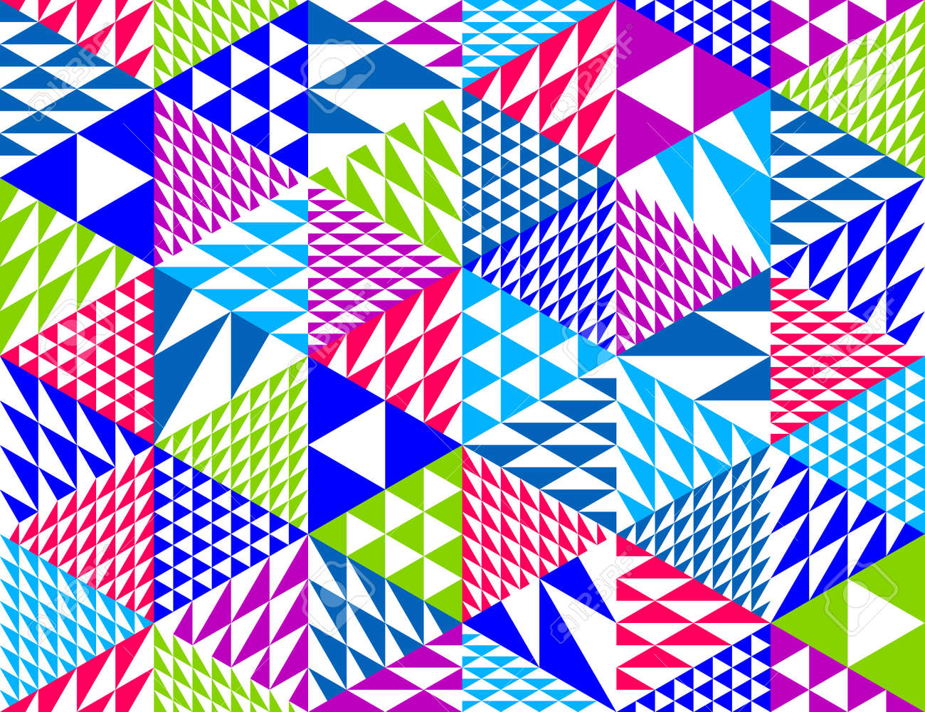 Geometric 3D seamless pattern with cubes, rhombus and triangles boxes blocks vector background, architecture and construction, wallpaper design. - 168006341