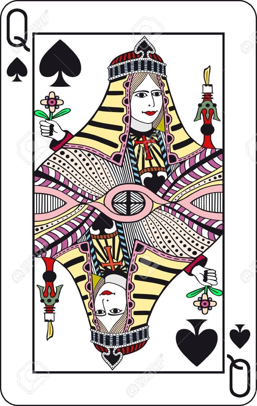 Poker card queen vector slot joints casino