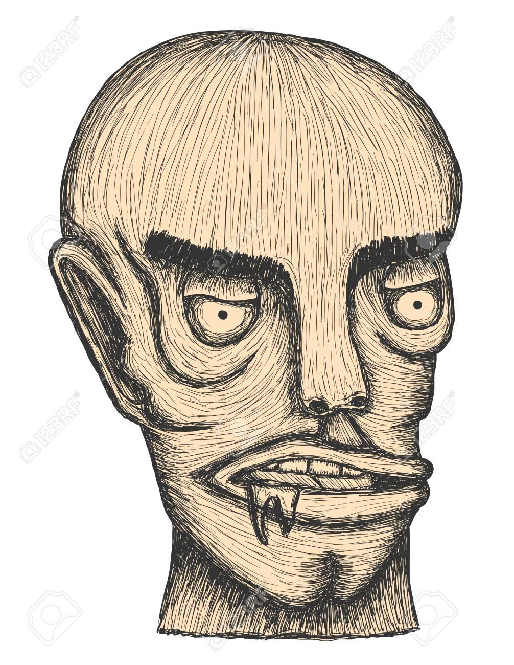 Hand drawn individual head of man Stock Vector - 11656186