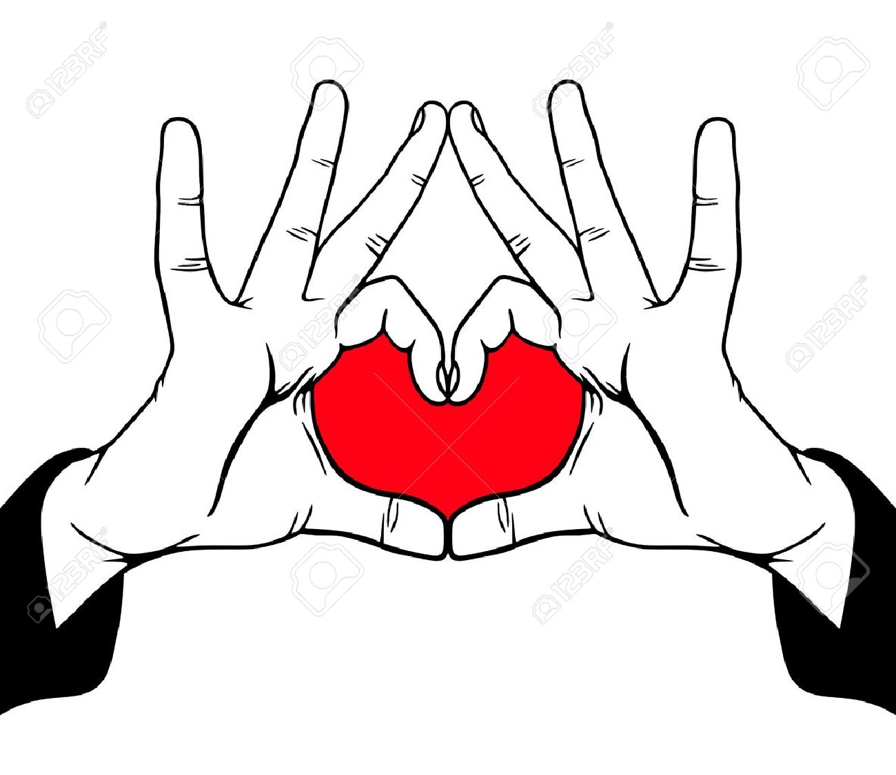 Hands symbolic love, vector illustration Stock Vector - 11854641