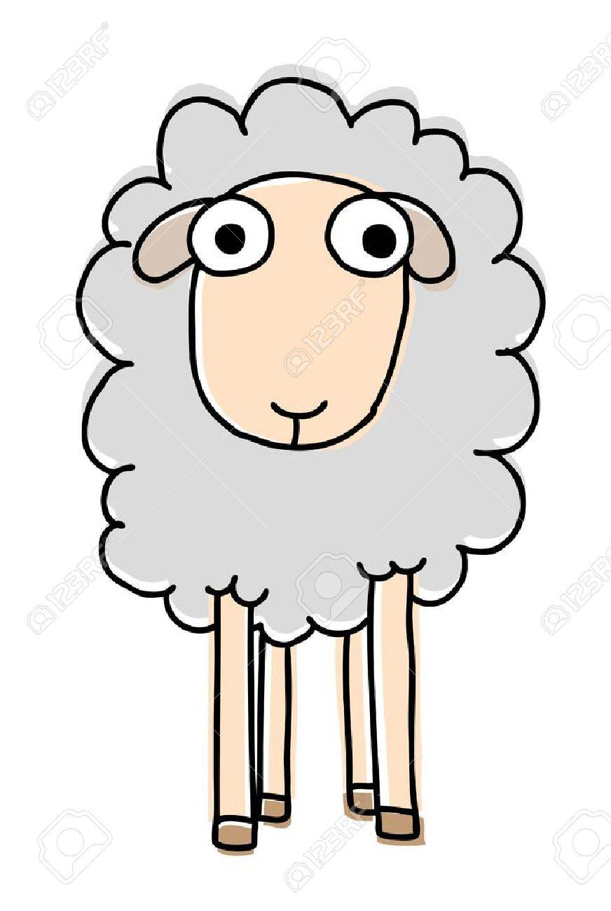 Funny sheep, cartoon vector illustration Stock Vector - 16170786