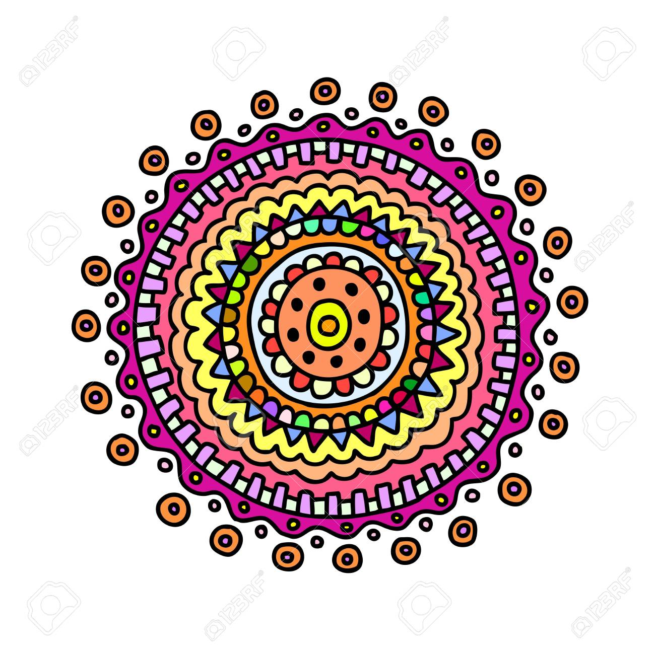 Hand drawn circle, vector decoration Stock Vector - 16170858