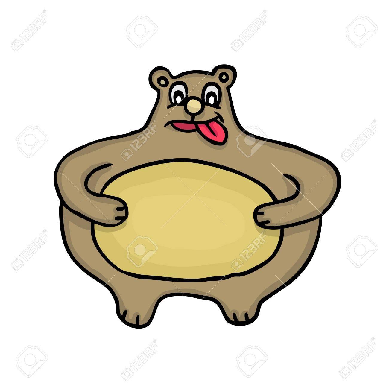 Painted fat bear, vector illustration Stock Vector - 17569875
