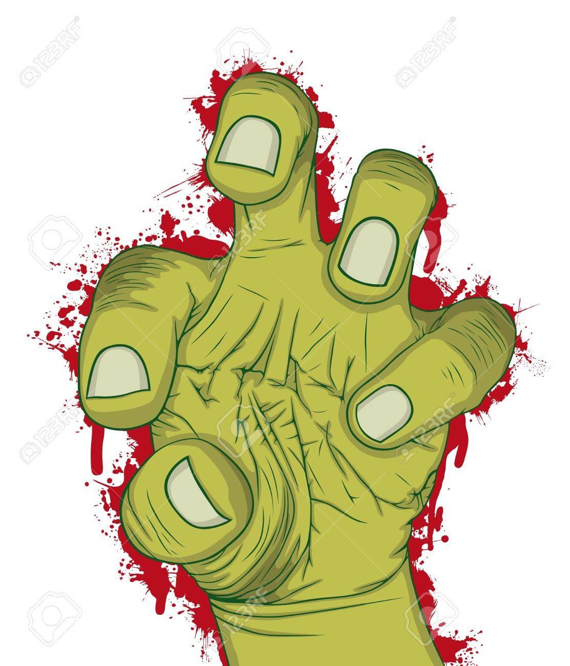 Hand of Zombie Vector