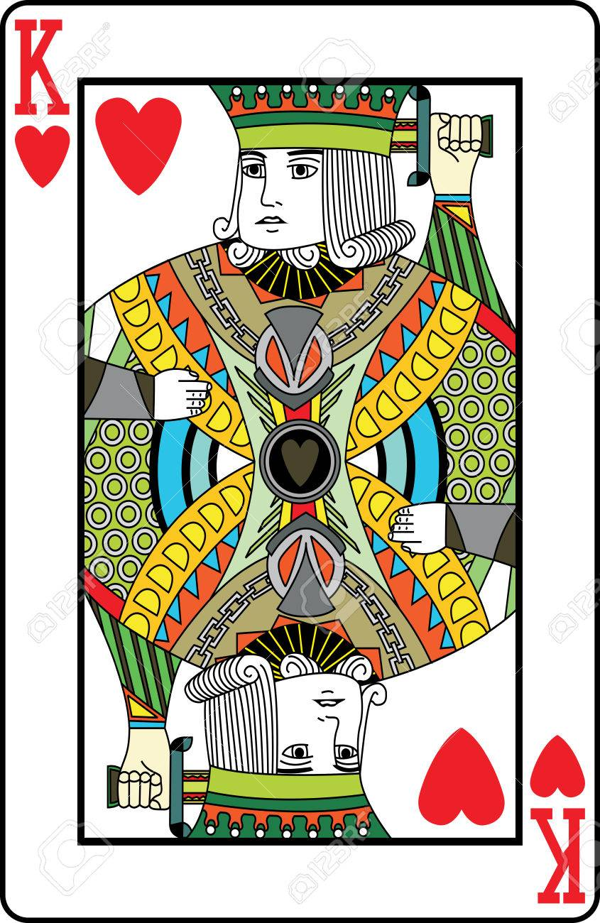キングオブ ハート トランプ ベクトル イラストのイラスト素材 ベクタ Image