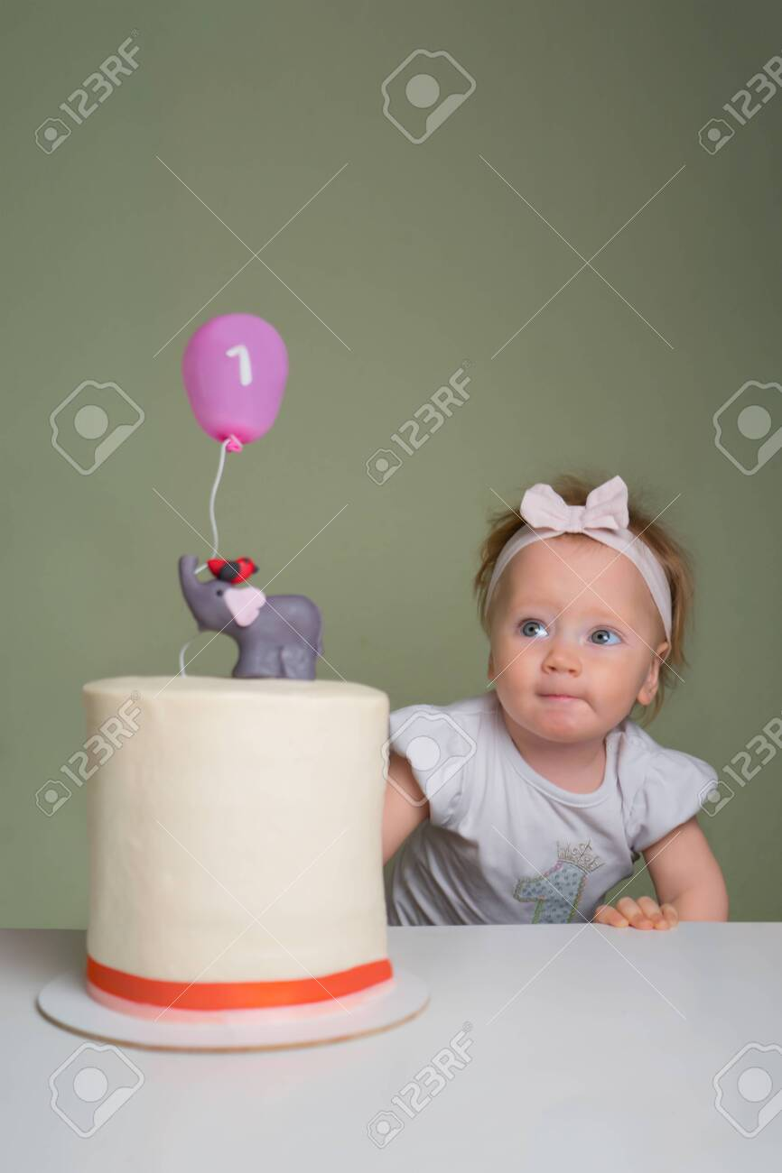 Fantastic Girl Trying To Touch Birthday Cake With Her Finger Positive Personalised Birthday Cards Sponlily Jamesorg