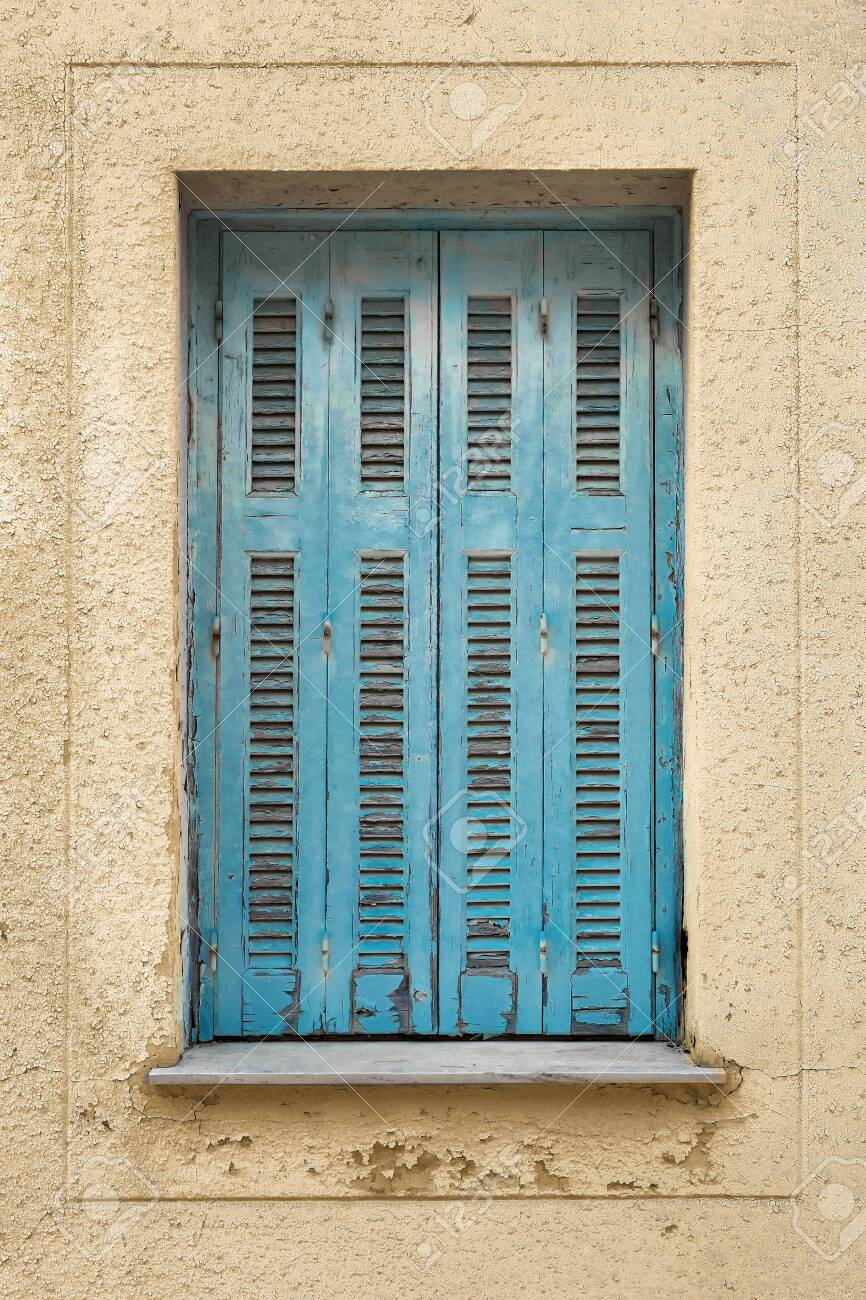 Shutters On Wall Background Building Exterior Of Faded Wall Stock Photo Picture And Royalty Free Image Image 136285350