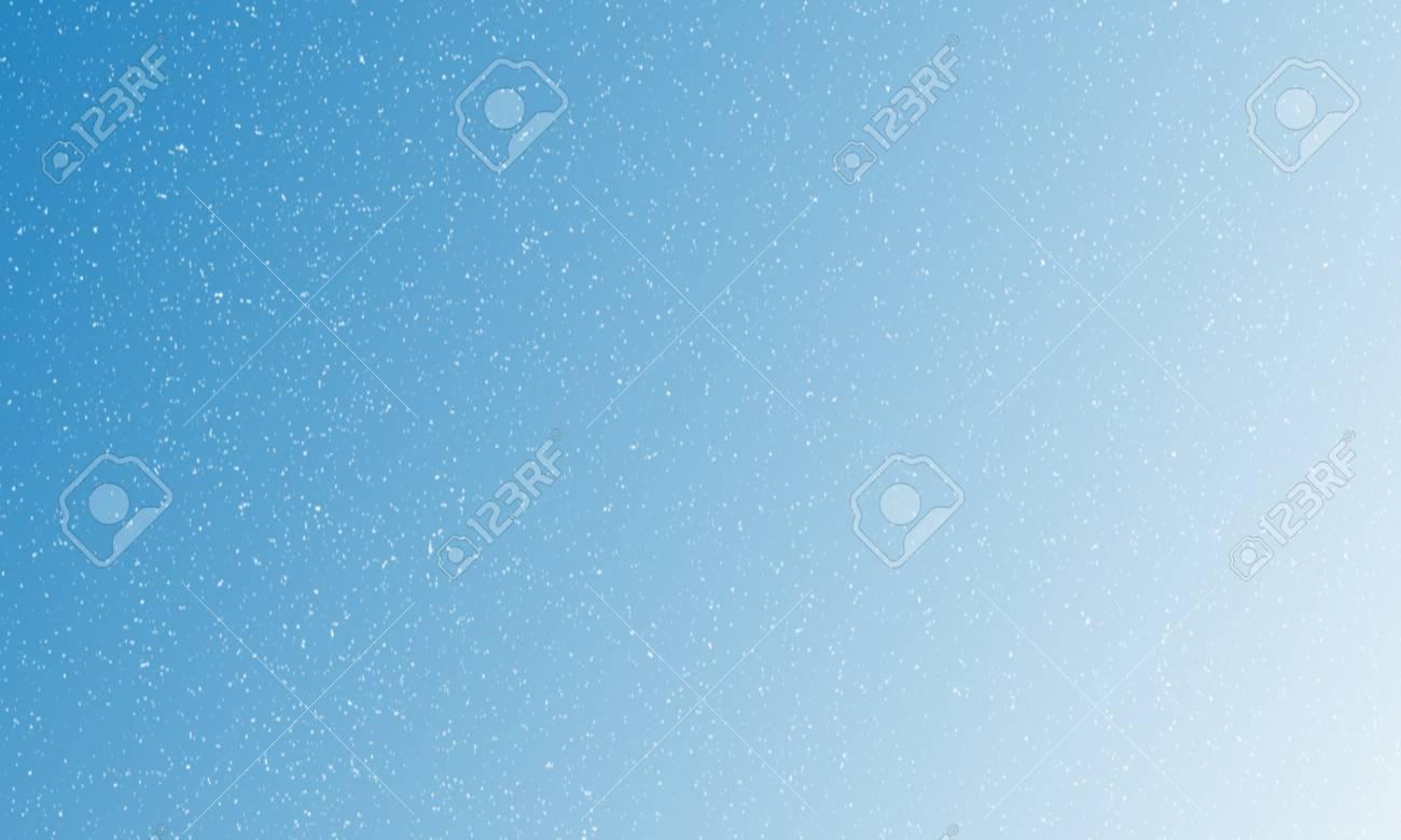 Fondo Azul Claro Degradado Con Copos De Nieve Cayendo Ilustración