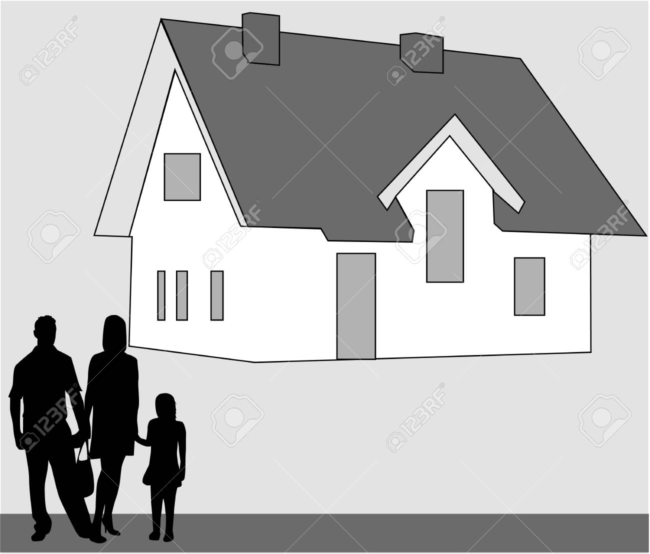 Family home. Stock Vector - 6468095