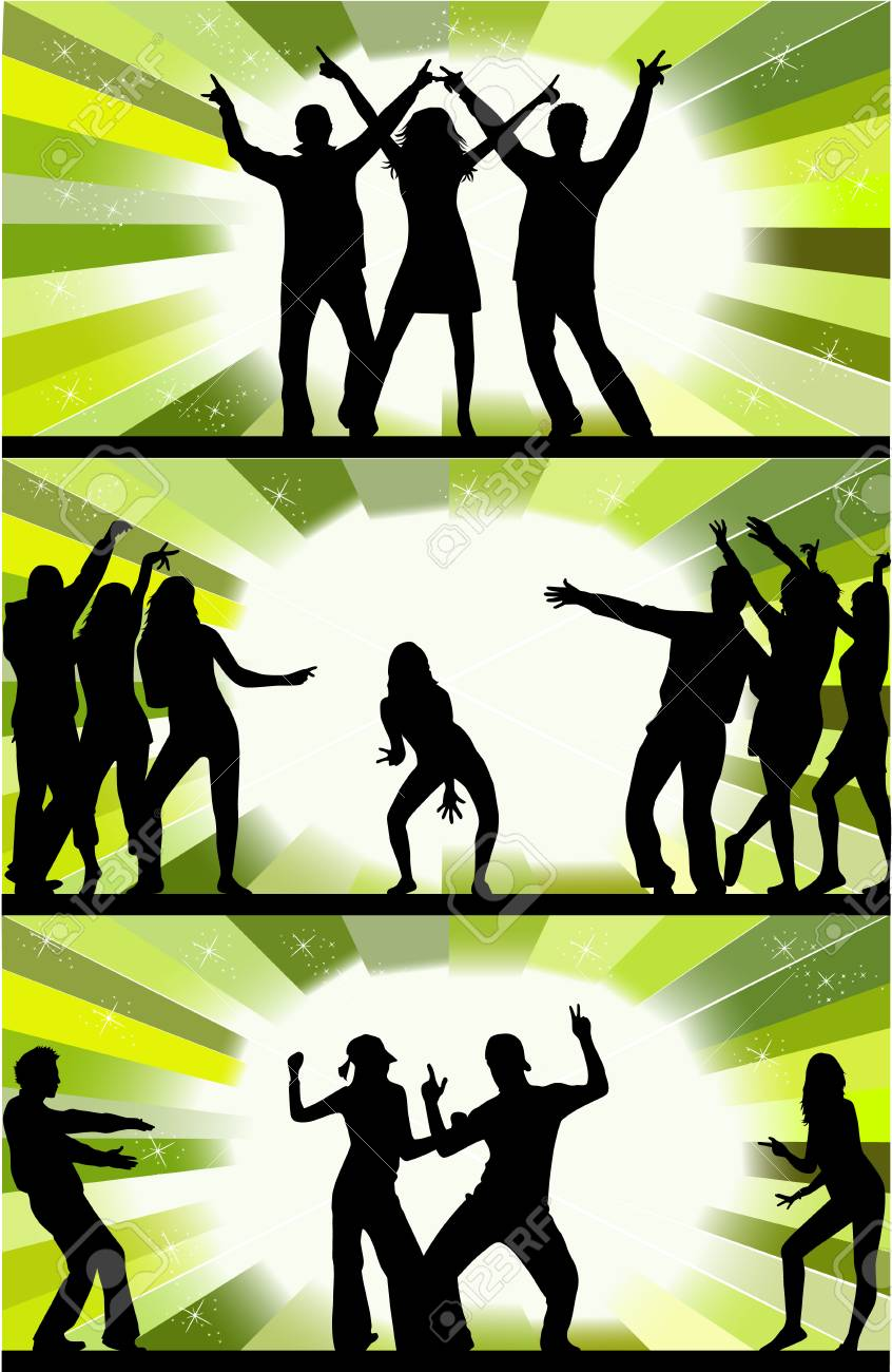 Party peoples Stock Vector - 6826244
