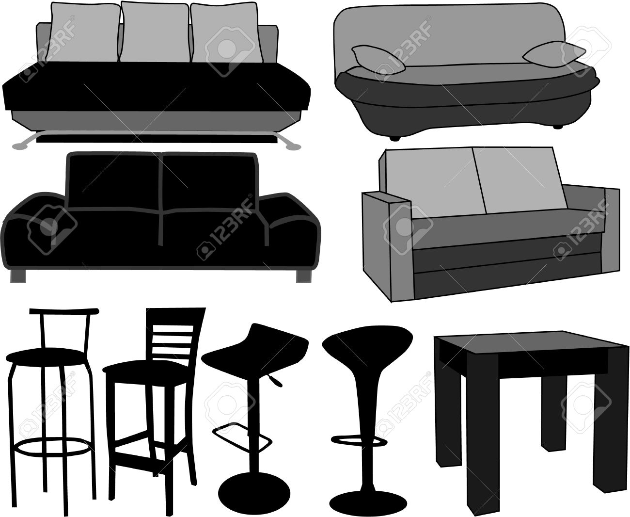 Furniture-home furnishings, working with vectors Stock Vector - 7807773