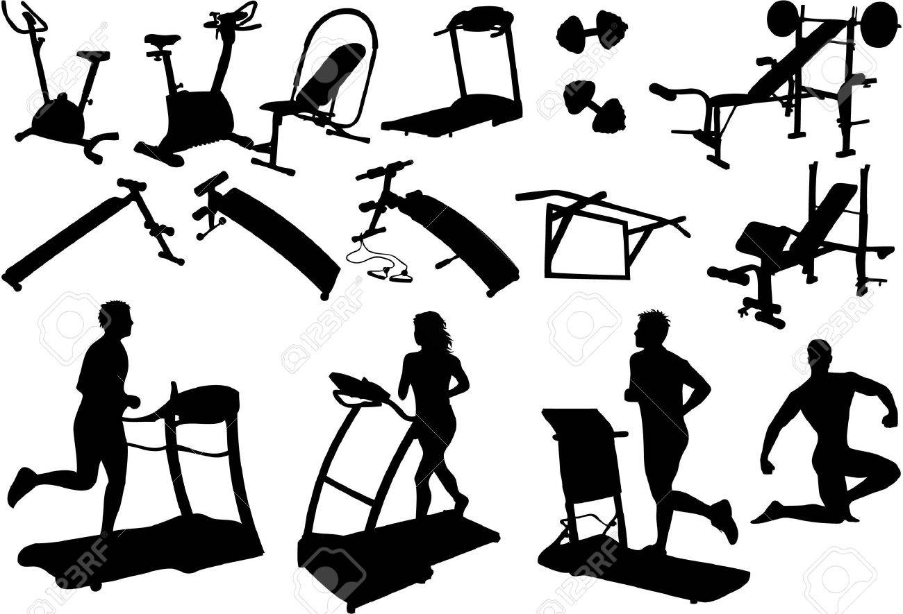 Gym Equipment Made In The Image Vectors Stock Vector