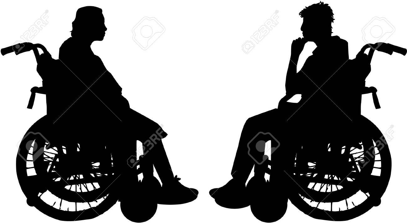 disabled in a wheelchair Stock Vector - 8741420