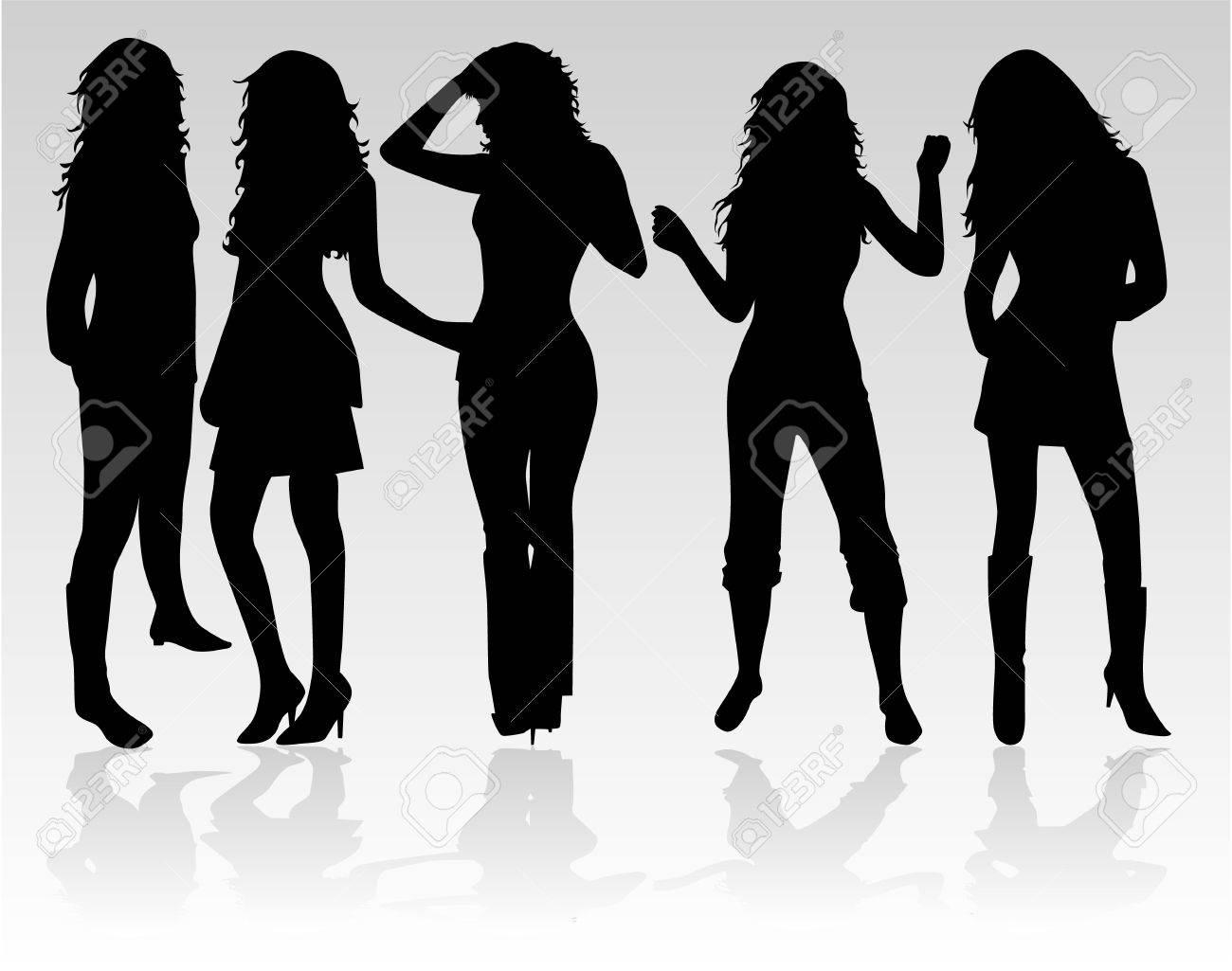 Beautiful  women dance Stock Vector - 8741619