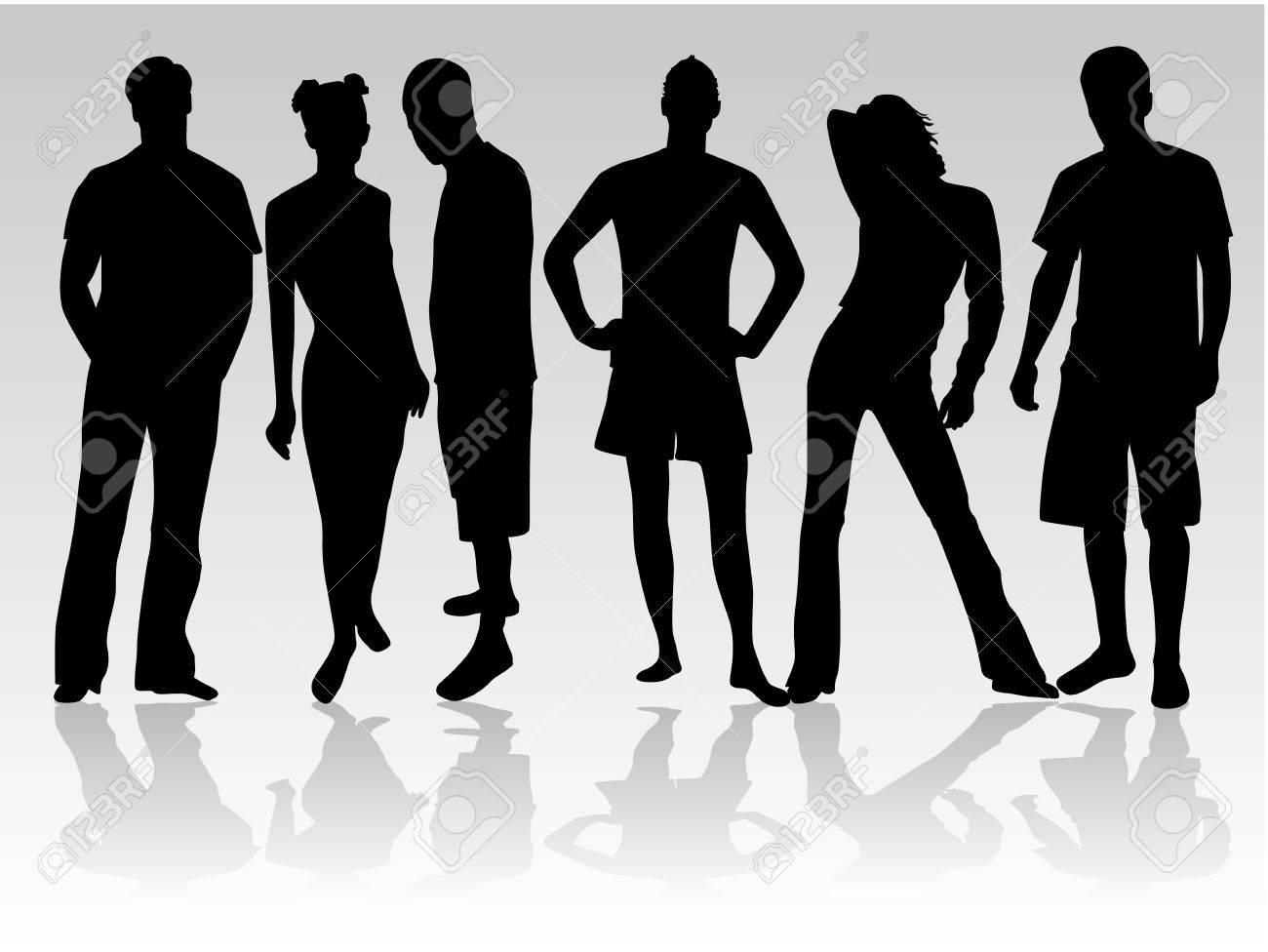 Standing figures of people Stock Vector - 8933697