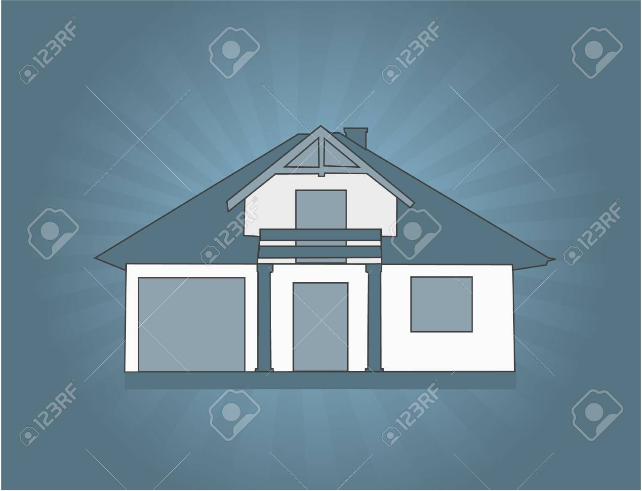 Family home Stock Vector - 8933764