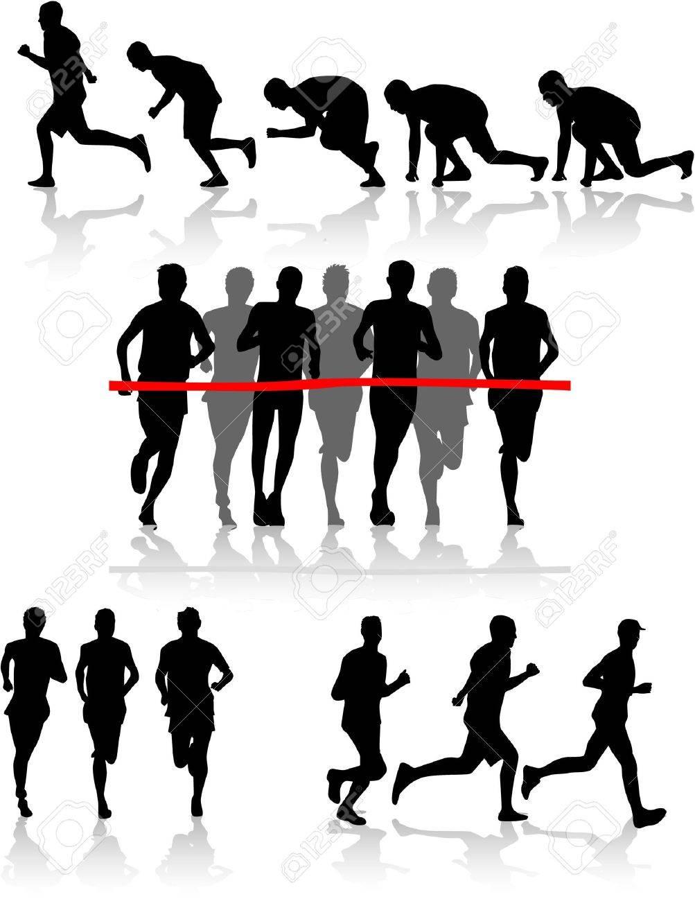 Runners Stock Vector - 9718608