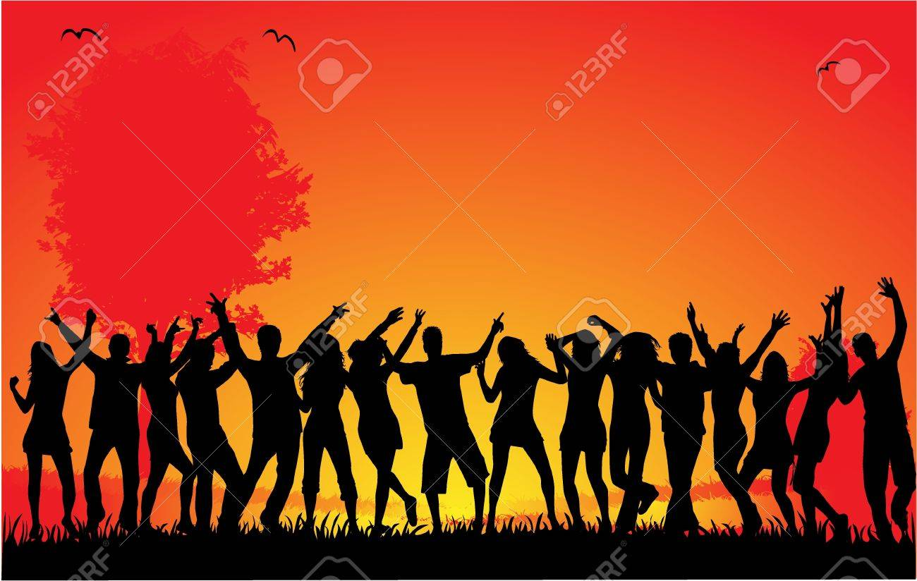 Outside party Stock Vector - 9718676