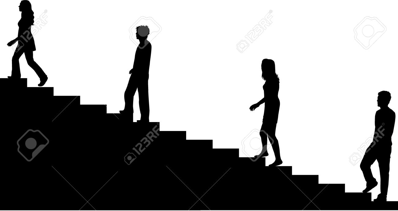 Climbing stairs Stock Vector - 9718368