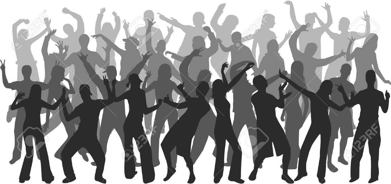 Dancing people Stock Vector - 10423288