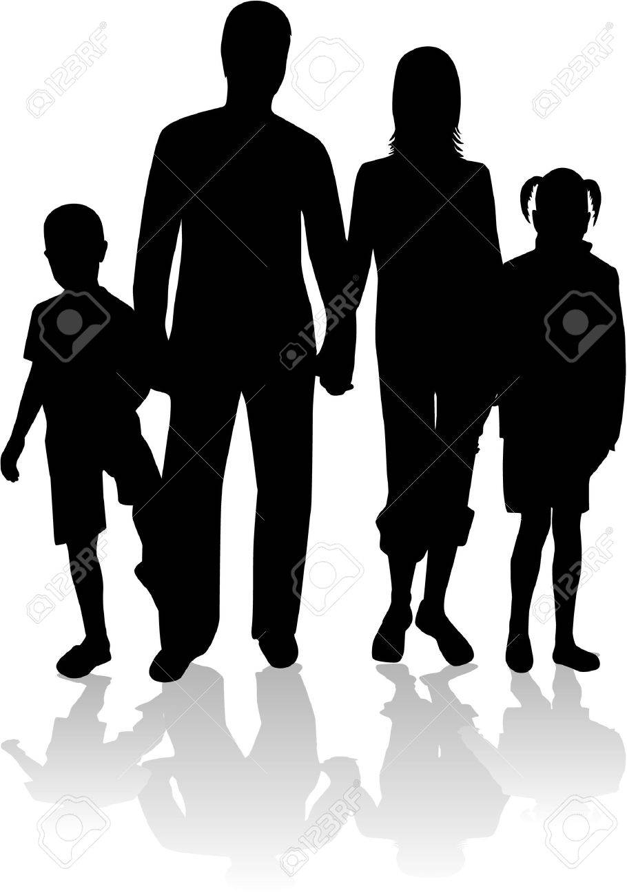 family silhouette royalty free cliparts vectors and stock rh 123rf com happy family silhouette vector happy family silhouette vector