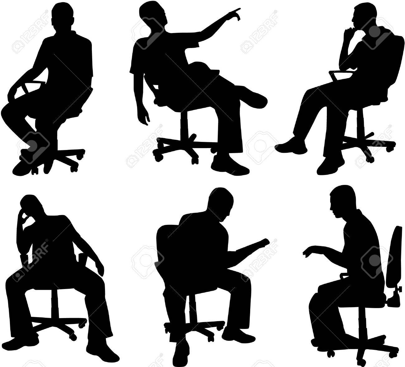 6,330 Sitting Standing Stock Vector Illustration And Royalty Free ...