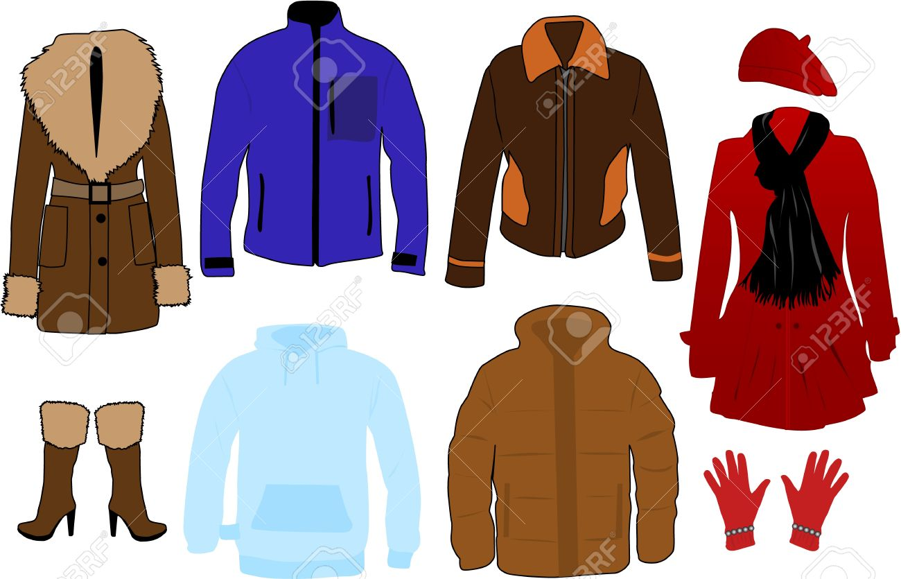 Winter Clothes Royalty Free Cliparts Vectors And Stock