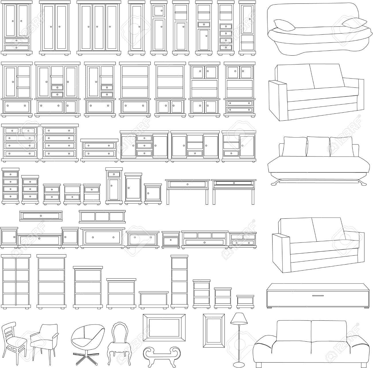 furniture set Stock Vector - 16473368