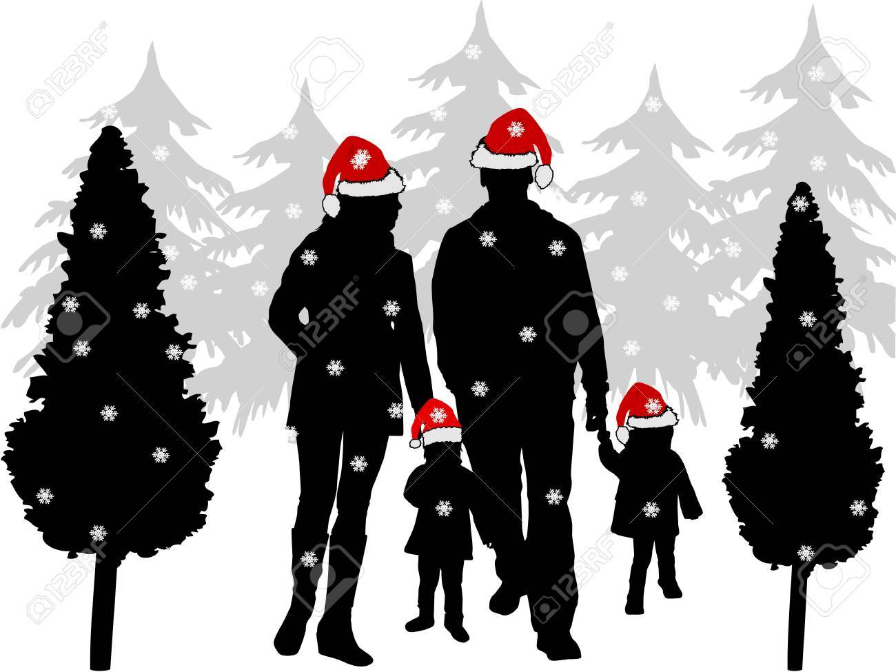 Christmas family picture Stock Vector - 16701687