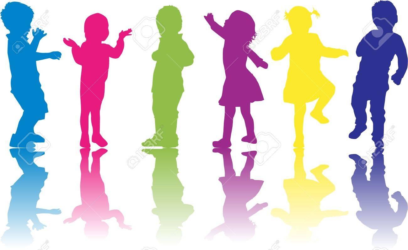 group of children Stock Vector - 17965379