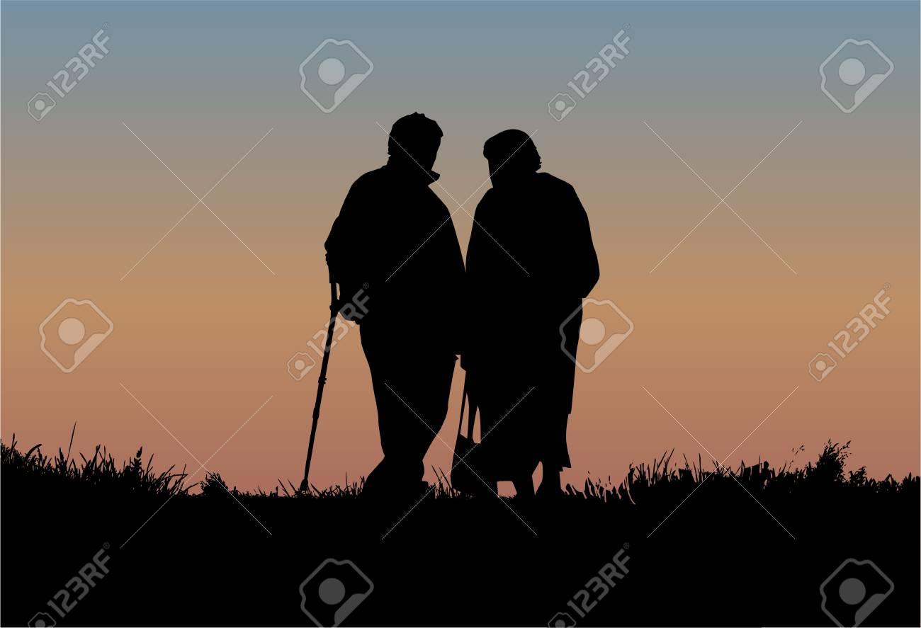 Senior Couple Stock Vector - 18685021