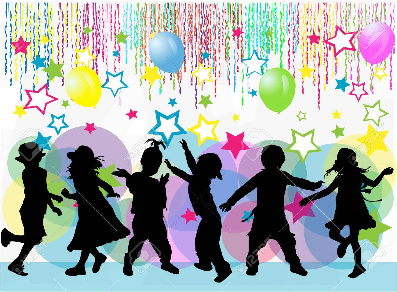 children silhouette - 34626690