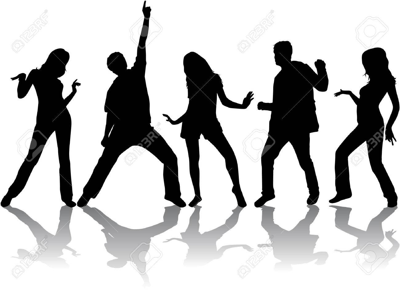 Dancing silhouettes - 35077607