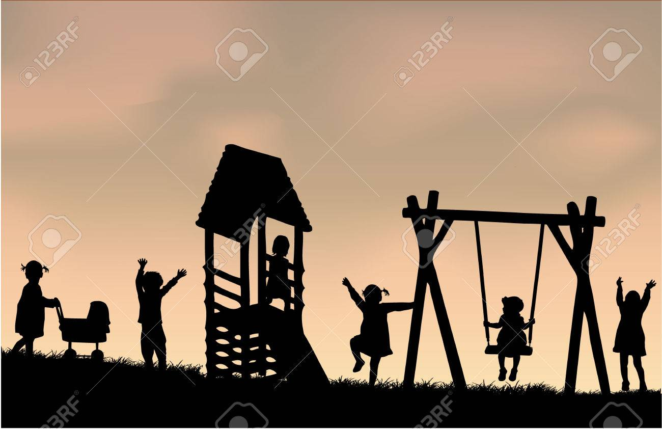 Children at the playground. - 36275633