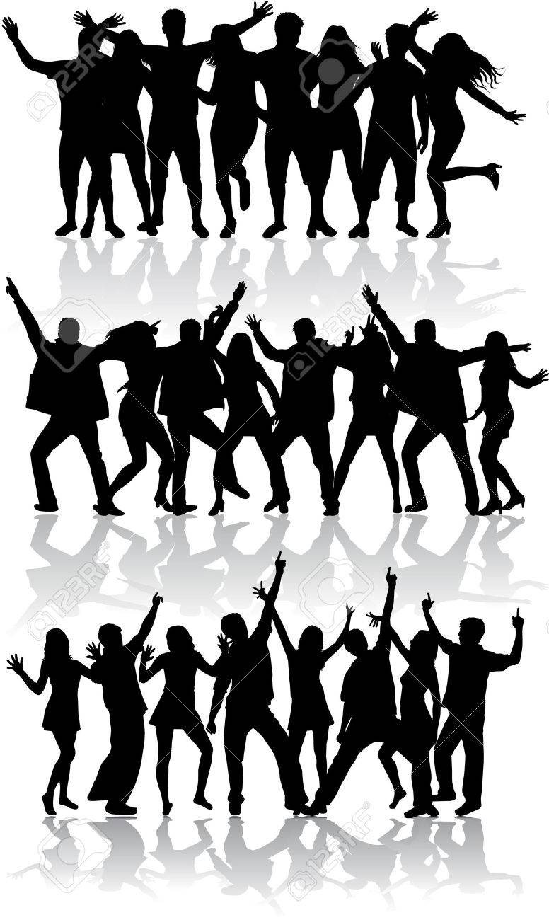 Dancing silhouettes - 36275647